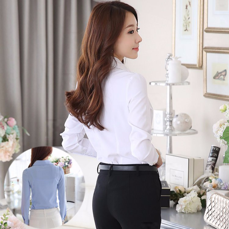 HTB1S c.LXXXXXaUXpXXq6xXFXXXi - Casual Blouse Long Sleeve Femininas Ladies Work Wear Tops Shirt