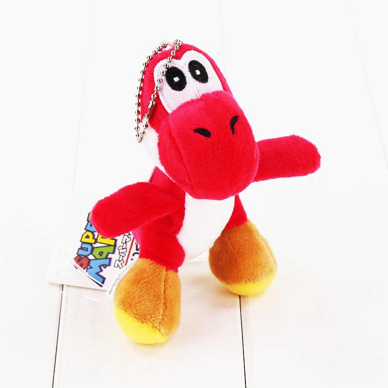 10 estilos 12 centímetros Super Mario Yoshi de Pelúcia Brinquedo de Pelúcia Macia Bonecas Pingente Com Keychain Chaveiro Grande Presente