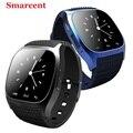 Оригинал Smarcent M26 Bluetooth Smart Watch роскошные Smartwatch с Набора SMS Напомнить Шагомер Наручные Часы PK DZ09 GV18