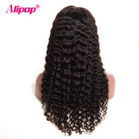 150% Density Peruvian Deep Wave Wig 13x4 Lace Front Human Hair Wigs ALIPOP Human Hair Wigs With Baby Hair Remy Lace Wig