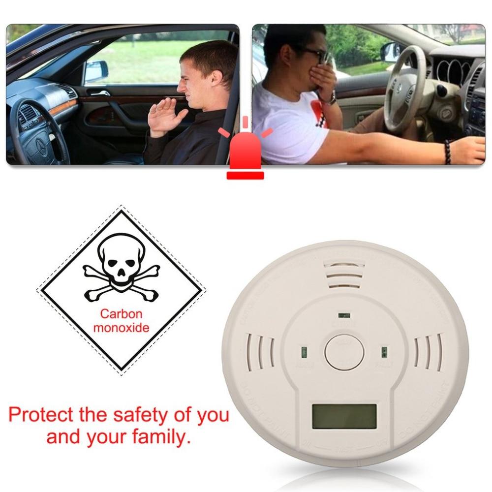 New 85db Carbon Monoxide Detector Sensor LCD Gas CO Alarm Tester Warn Battery Powered Loud and Flash Alarm Lndicator Safety