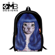 Cute Animal Playing School Bags For Teenagers Funny 3D Printing Backpack For Women Men Schoolbag Kid Boys Girls Mochila Infantil
