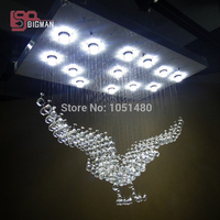 Новый большой кристалл лампы современный Лобби Хрустальные люстры Длина 100 см проекты освещения