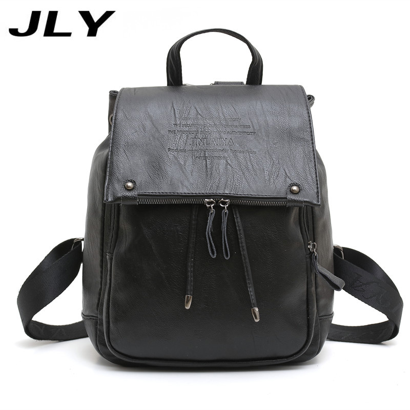 9249a4522e80 JLY Fashion Floral Pu Leather Backpack Women Embroidery School Bag For Teenage  Girls Brand Ladies Small Backpacks Gray Sac A Dos