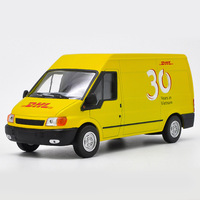 1:32 Alloy Toy Sports Car Model DHL minibus truck of Children's Toy Cars Original Authorized Authentic Kids Toys Gift
