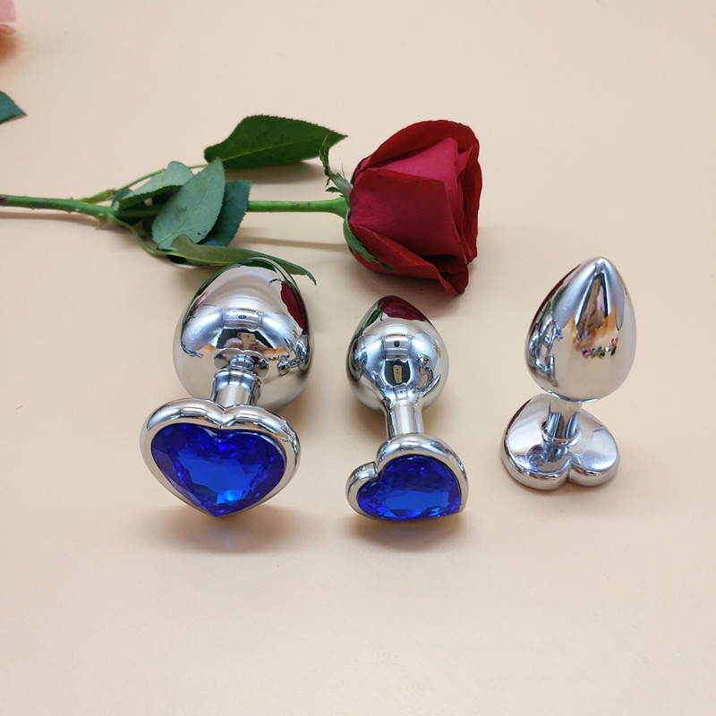 Beauty & Health Anal Sex Toys Kind-Hearted 3pcs/set Anal Sex Toys 11 Colors Available Large Medium And Small Stainless Steel Heart Color Sequins Male Female Adult Sex Toys