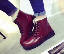 Wholesale boots in winter female short boots and velvet warm cotton shoes with Martin boots factory direct sale eur size 35-40