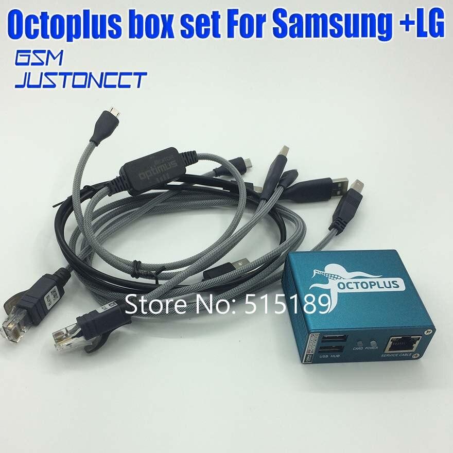 100% Original 2019 nouveau poulpe boîte/Octoplus boîte pour SAMSUNG pour Lg + 5 câbles pour SAM déverrouiller Flash réparation téléphone Mobile