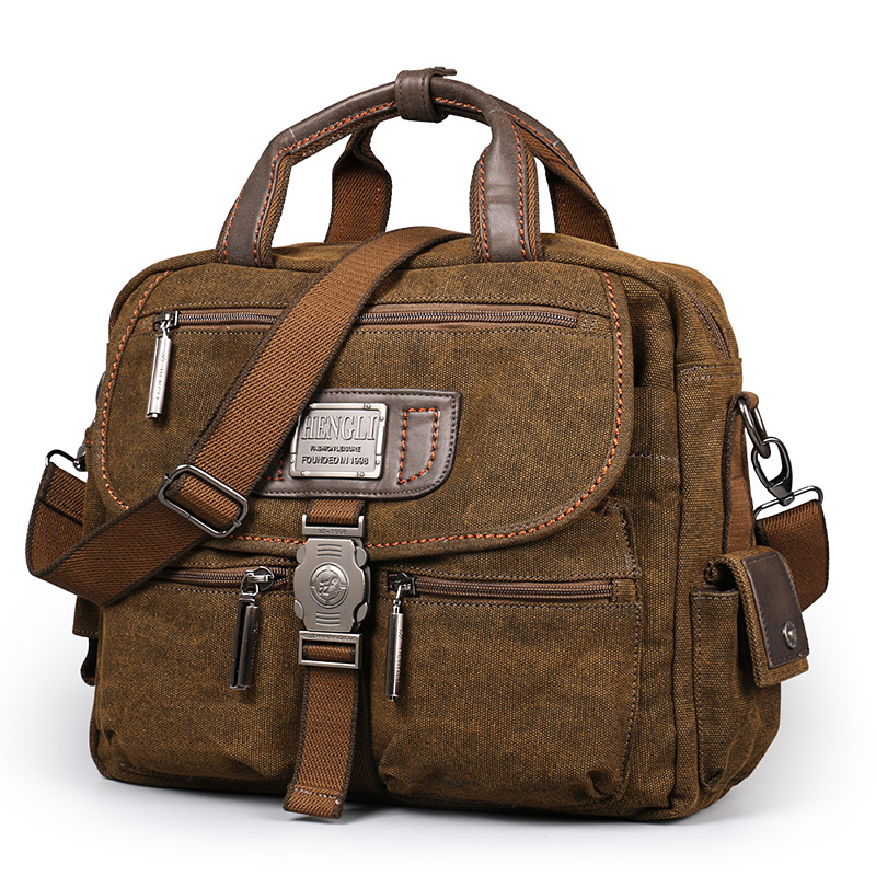 2017 Ruil Retro Canvas Messenger Bags Multifunction Men s Shoulder Briefcase Leisure Travel Handbag Toolkit Vintage