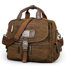 2017 Ruil Retro Canvas Messenger Bags Multifunction Men's Shoulder Briefcase Leisure Travel Handbag Toolkit Vintage Package