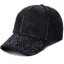 new design women luxury rhinestone bling casual fashion baseball cap solid jet black white adjustable size caps