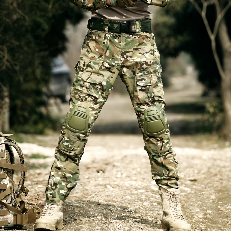 Military Tactical Pants Knee Pads Men Cargo Pants Army Airsoft Paintball Camouflage Trousers Hunter Clothes Working Pantalon