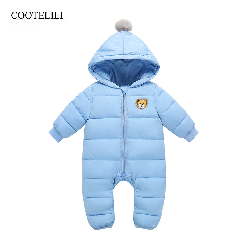 COOTELILI Cotton Newborn Baby Boy Clothes Children Winter Rompers Baby Jumpsuit Baby Products Warm Girls Infant Clothing 66 90cm