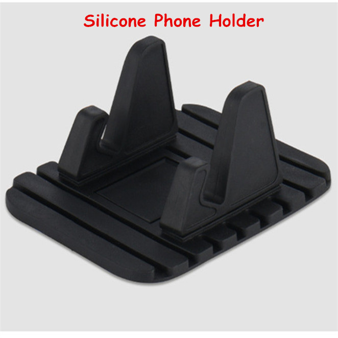 Universal Car Phone Holder Cell Mobile Phone Desktop Stand For Xiaomi Samsung Antiskid Soft Silicone Holder For Phone In Car