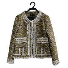 Fashion Runways Beading women O neck tweed coats New 2018 spring autumn elegant Jackets Chic OL short coat S309
