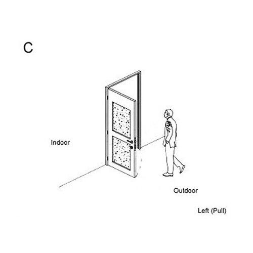 RF карты цифровой дверной замок автоматический замок для гостиницы A03 - Цвет: C left outside