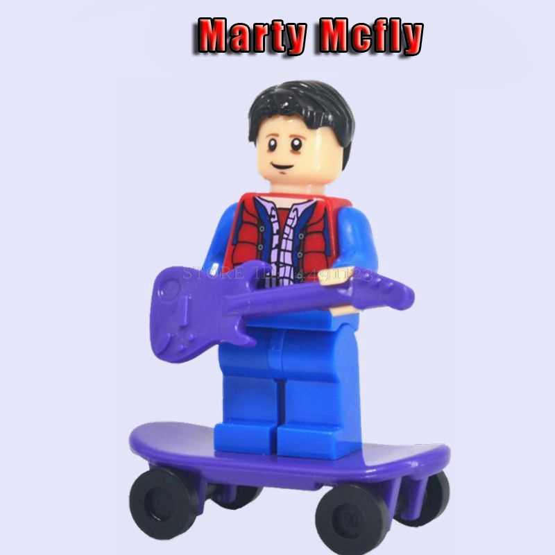 لعب كتل العودة إلى المستقبل مارتي McFly دوك براون ثورمان مجموعة السلطة هالك هوجان مارفل المنتقمون ثانوس كتلة دمى أشكال الاطفال