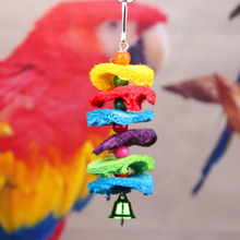 3pcs Birds supplies Toys Parrot Chew String Loofah Hand Grab Bite Toy Climb Cage Ladder Bird Swing Grinding Series