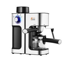 MINI máquina de café Espresso Vapor máquina de bolhas de espuma de leite semi Multifunction Cappuccino café Cafeteira Italiana 5Bar|Cafeteiras|   -
