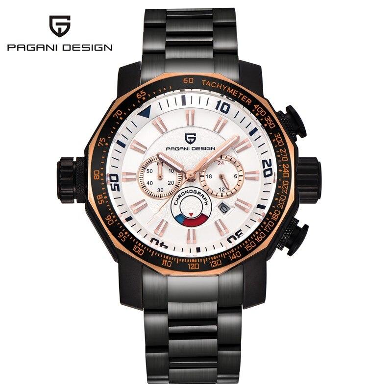 Montres hommes de luxe marque PAGANI DESIGN Sport montre militaire montres grand cadran multifonction Quartz montre-bracelet Relogio Masculino