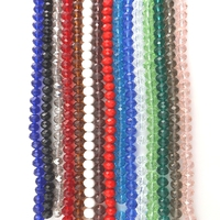 10mm Faceted Wheel Glass Loose Beads Crystal Spacer Beads For DIY Jewelry 21 Colors Wholesale 200pcs