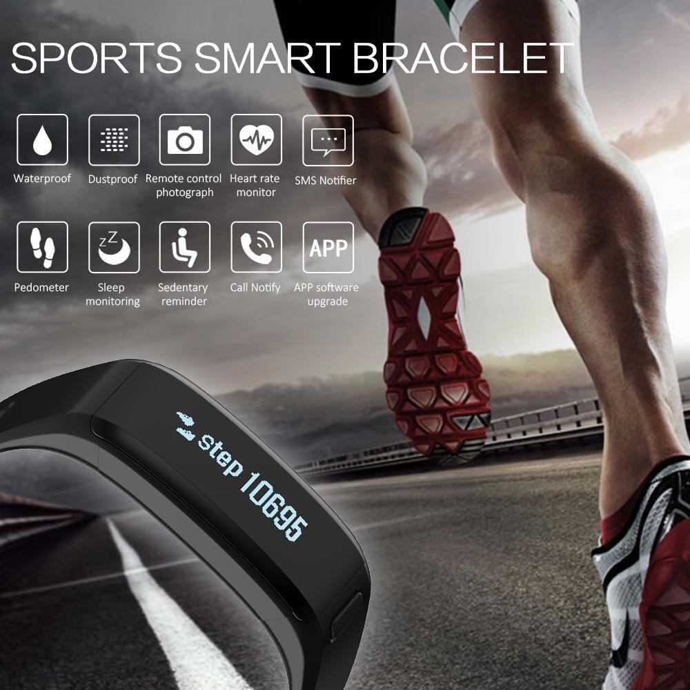 SXR1 Bracelet intelligent Bracelet de bain étanche montre Tracker de Fitness iOS Android Smarband moniteur de fréquence cardiaque PK xiaomi mi bande 2 - 4