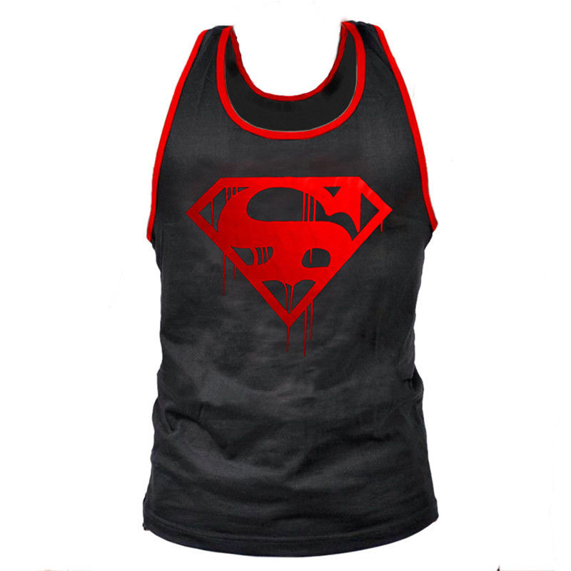 New summer superman men s stringer tank tops cotton tank tops gasp muscle shirts fitness bodybuilding