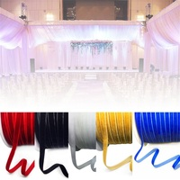 200 Yards 10MM Velvet Ribbon Wedding & Festival Decoration Velour Headband Hair Band Accessories Lace Fabric