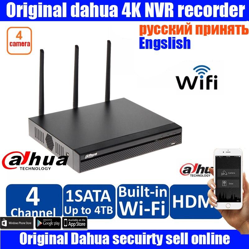 Original dahua DAHUA 4ch WIFI P2P NVR with dahua Logo NVR4104HS-W-S2 for dahua wifi IP camera dahua wifi nvr DH-NVR4104HS-W-S2