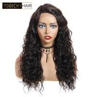 MORICHY вьющиеся Синтетические волосы на кружеве натуральные волосы парик 150% плотность с глубоким L часть индийские волосы Синтетические воло