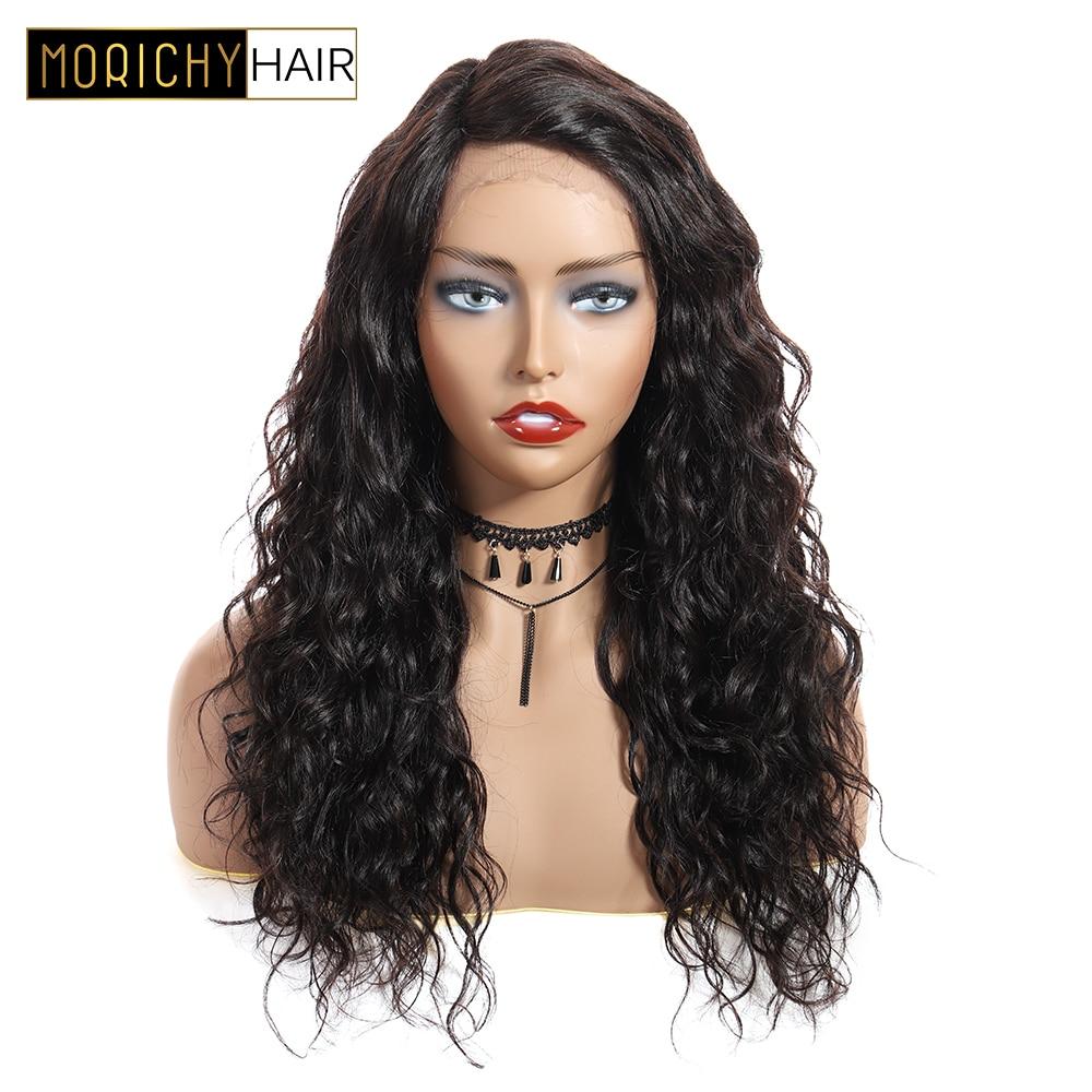 MORICHY вьющиеся Синтетические волосы на кружеве парик человеческих волос 150% плотность с глубоким L часть индийские волосы Синтетические воло