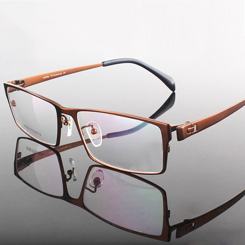 Aliexpress.com : Buy Gentlemen Pure Titanium Eyeglasses ...
