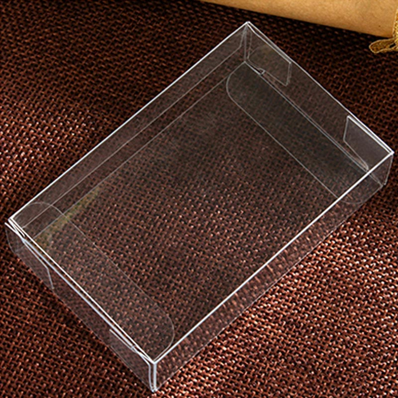 5x Mini Clear Kunststoff Storage Box Clear Square Jewelry Display Case Boxen