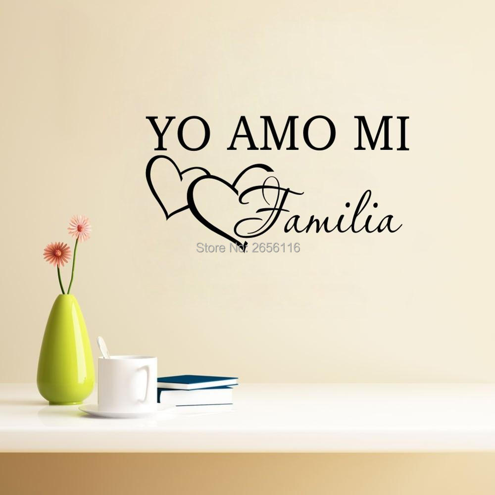 Spanish Words For Bedroom Yo Amo Mi Familia Vinyl To Talk About Things In A