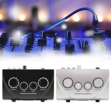 Караоке машина Профессиональный звуковой микшер мини эхо-Смеситель цифровой аудио звук аудио системы устройства микрофонная Консоль 2 вилки