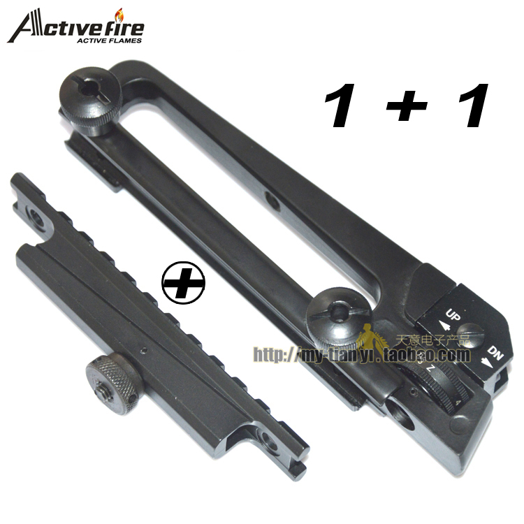 Alloy AR15&M16 Detachable Carry Handle W/ Dual Aperture A2 rear sight See through Picatinny Rail Mount Combo M4 M16 AR15