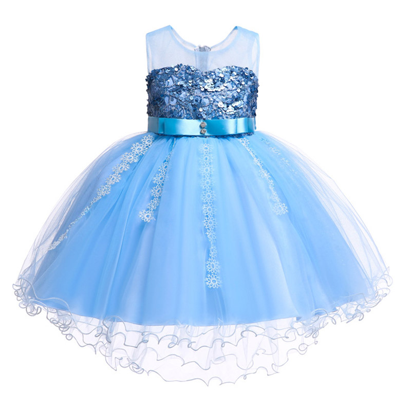 2019 new lace sequin princess   dress     flower     girl     dress   baby evening baby clothing first communion costume ladies prom   dress