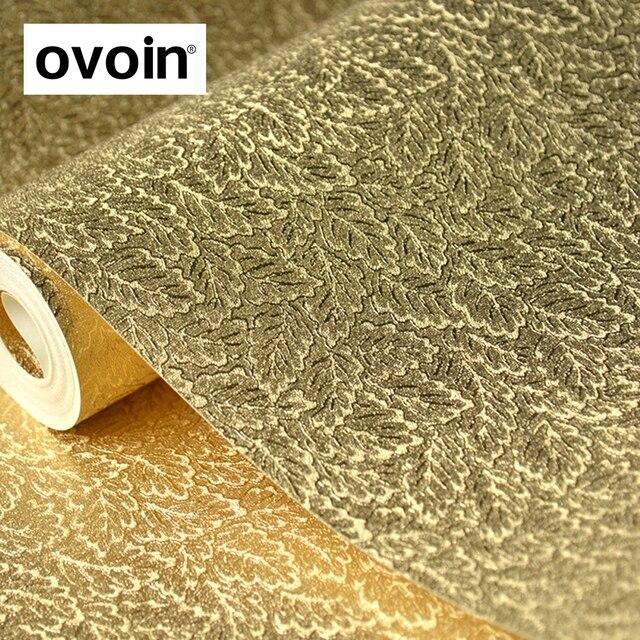 European Luxury Glitter Silver Gold Foil Wallpaper Leaves Design Pattern For Walls Modern Metallic Textured Wall