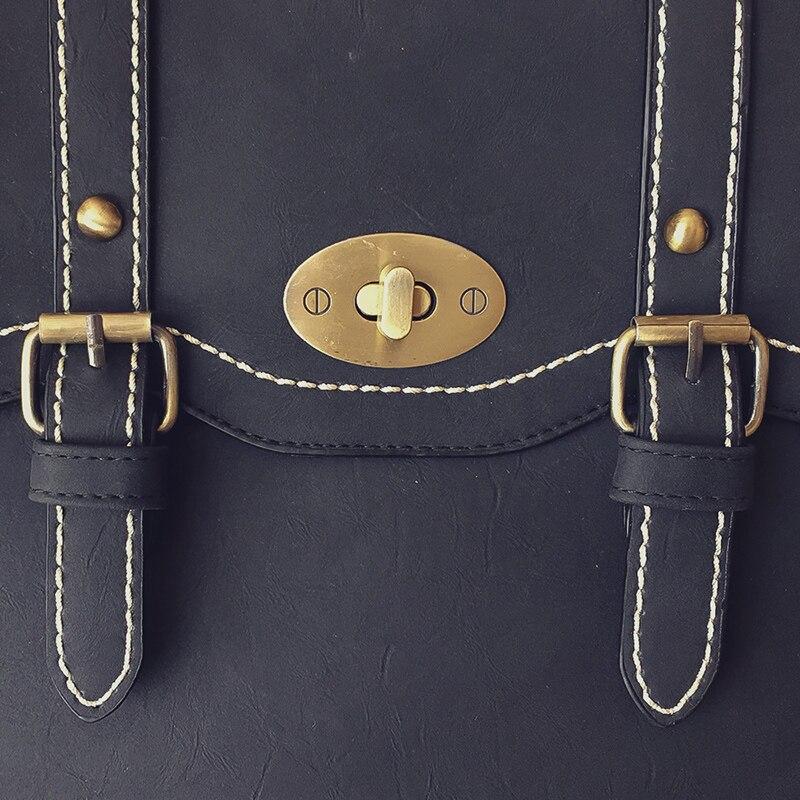 Vintage Women Backpack High Quality Black Pu Leather Backpacks For Teenage Girls Female School Shoulder Bag Vintage Women Backpack High Quality Black Pu Leather Backpacks For Teenage Girls Female School Shoulder Bag Bagpack mochila 2019