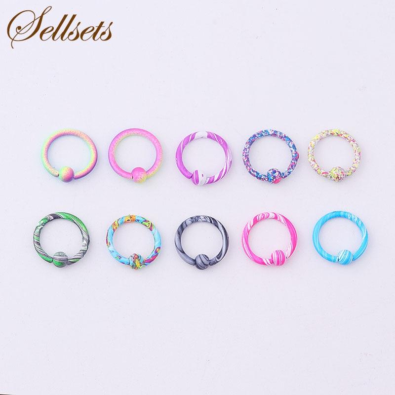 5106d1ede88bb 1 Pair Colorful Round Flexible Clear Acrylic Hoop Earrings Korean ...