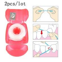 2 шт./лот, портативная зубная нить, уход за полостью рта, Эфирная нить, межзубная щетка, зубная гигиена, чистящие зубные инструменты
