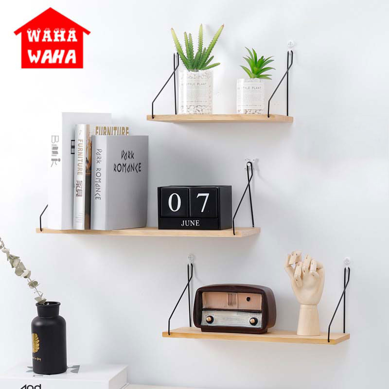 Superb Us 8 92 5 Off Simple Iron Wooden Decorative Wall Shelf Storage Rack Organization For Kitchen Kid Room Diy Wall Decoration Holder Home Decor In Home Interior And Landscaping Oversignezvosmurscom