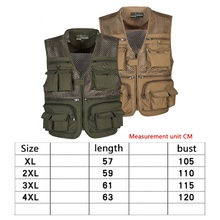 Outdoor Fishing Vests Breathable Multi Pocket Mesh Jackets Photography Hiking Vest Quick Dry Fish Vest