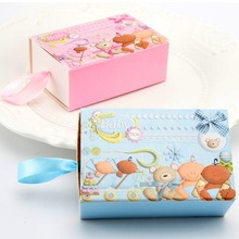 Creative Drawer Candy Gift Box Baby Shower Girl Boy Birthday Party Favors Boxes with Ribbon for Guests Gift Packing Box