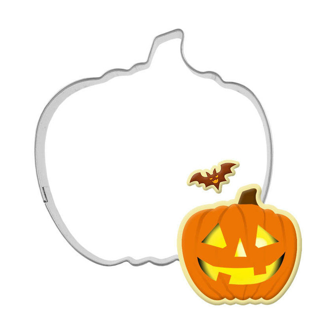 1 Pc Halloween Pumpkin Cookie Cutter 3d Sugarcraft Fondant Biscuit