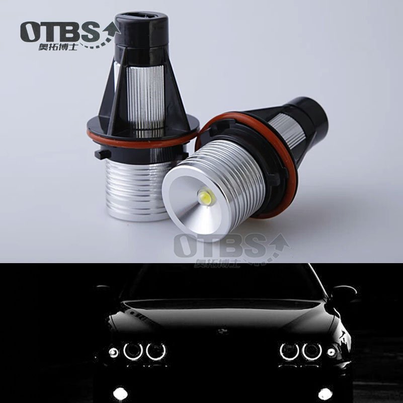 6500k LED Angle Eyes Halo Xenon Marker Ring Light Bulb Canbus For BMW E39 <font><b>E53</b></font> E60 E61 E63 E64 E65 E66 <font><b>X5</b></font> image