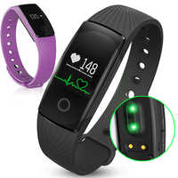 2018 New ID107 Bluetooth 4.0 Fitness Tracker Heart Rate and Sleep Monitor Creative Watches Simple Colorful Smart Wrist Watch Men