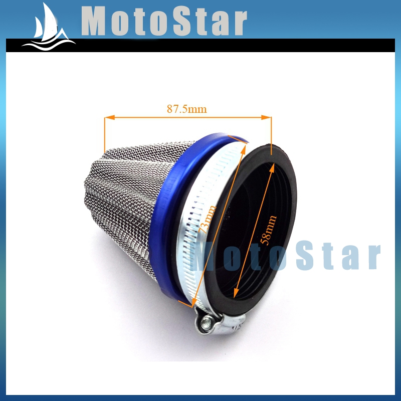 Dirt Modified Air Cleaner : Mm power cone performance racing air filter cleaner for