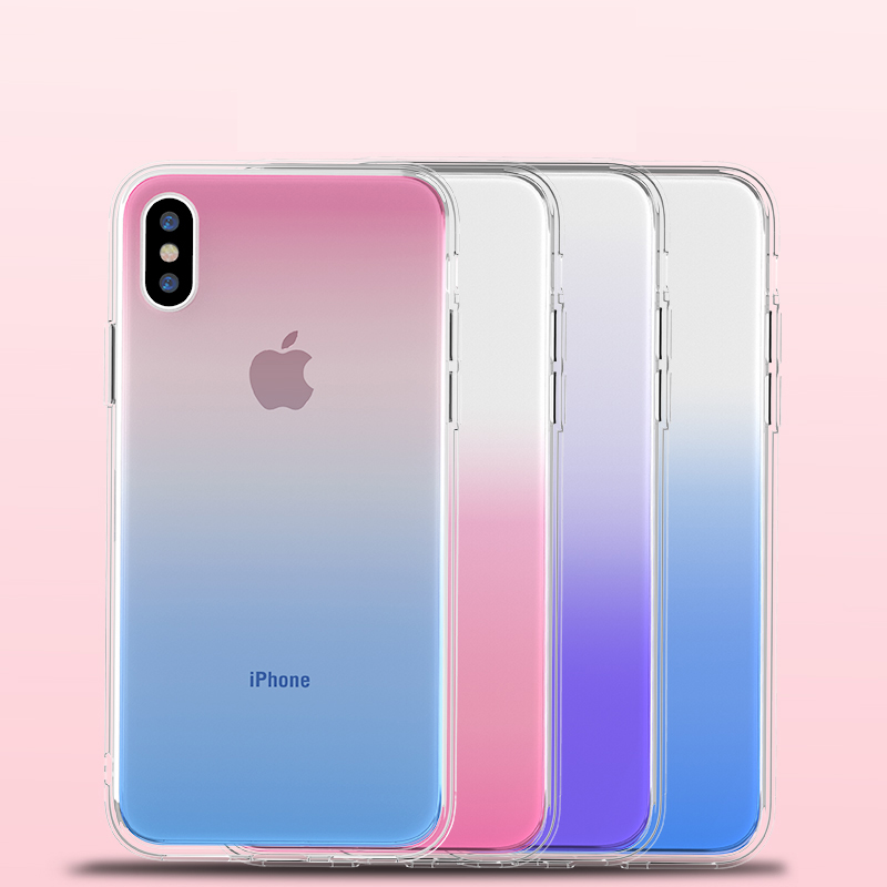 Suntaiho TPU Phone Case For iPhone 7 8 Plus Dream Shell Pattern Cases For iPhone XR XS Max 7 6 6S Plus Soft Silicone Cover