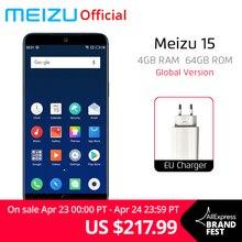 Küresel Sürüm Meizu 15 4 GB 64 GB Smartphone Snapdragon 660 Octa Çekirdek 5.46
